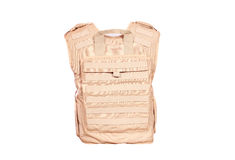 Backside of bulletproof vest. Isolated Stock Photos