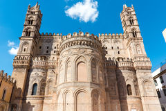 Backside of the cathedral in Palermo Royalty Free Stock Images