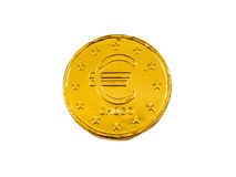Backside Chocolate Euro coin Stock Images