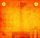 Backside circuit board Royalty Free Stock Photo
