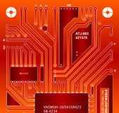 Backside circuit board Royalty Free Stock Image