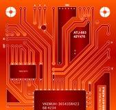Backside circuit board. Design of a backside circuit board vector illustration