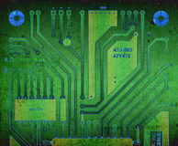 Backside circuit board. Grunge design, backside circuit board stock illustration