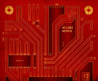 Backside circuit board Stock Photography