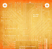 Backside circuit board Royalty Free Stock Photos