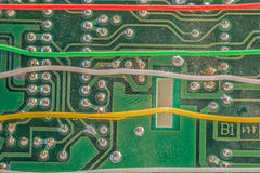 Backside of a circuit board Stock Images