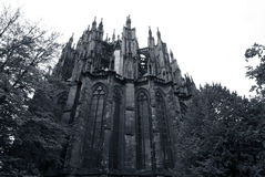 Backside of Cologne Cathedral royalty free stock photos