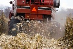 Backside Of A Corn Combine Stock Photo