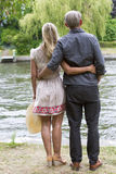 Backside of a couple in a park Royalty Free Stock Photography