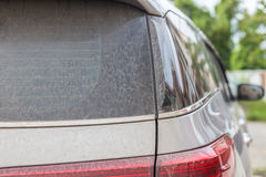 Backside of dirty car. Car wash concept Royalty Free Stock Photography