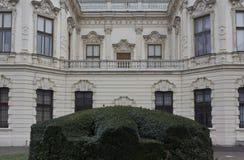 Backside of the facade of Shloss Belvedere building Stock Image