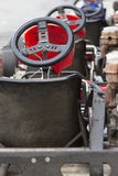 Backside of Go-kart ready to start Stock Image