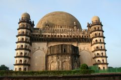 Backside of Gol Gumbaz. View of backside of famous monument Gol Gumbaz at Bijapur, Karnataka, India, Asia Royalty Free Stock Photography