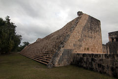 Backside of Grand Ballcourt Juego de Pelota at Mexico's Chichen Itza Mayan ruins on the Yucatan Peninsula. MEX royalty free stock photography
