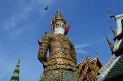 Backside of guardian giant, Wat Phra Kaew, Bangkok Stock Photos