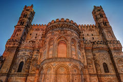 Backside of the huge cathedral in Palermo, Sicily. Italy Royalty Free Stock Photos