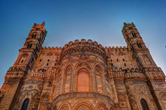 Backside of the huge cathedral in Palermo, Sicily Stock Image