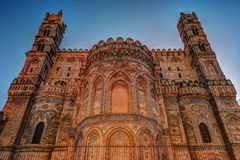 Backside of the huge cathedral in Palermo, Sicily Stock Images