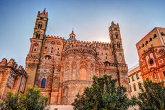 Backside of the huge cathedral in Palermo, Sicily. Italy Royalty Free Stock Image