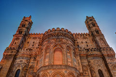 Backside of the huge cathedral in Palermo, Sicily Royalty Free Stock Photo