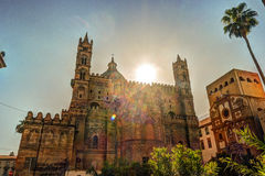 Backside of the huge cathedral in Palermo, Sicily Royalty Free Stock Photography