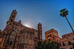 Backside of the huge cathedral in Palermo, Sicily Stock Photography