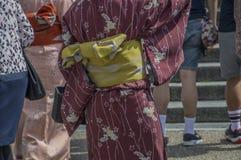 Backside Of A Kimono At Kyoto Japan 2015.  royalty free stock image