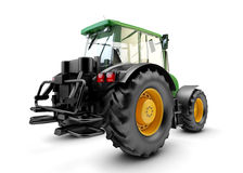 Backside of Modern powerful green farm tractor Stock Images