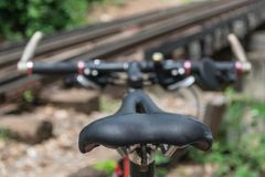 Backside of a mountain bike Stock Image