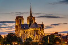 Backside of Notre Dame at dawn Royalty Free Stock Photography