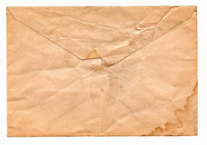 Backside of Old Blank Envelope with Water Stains Royalty Free Stock Photos