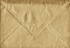 Backside of old brown blank envelope from 1960s Royalty Free Stock Photography