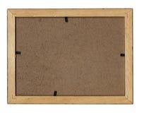Backside photo frame. Wooden photo frame, backside, high resolution Stock Photography