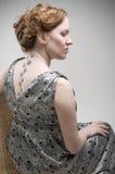 Backside portrait of beautiful prego woman Stock Photography