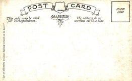 Backside of postcard Stock Photography