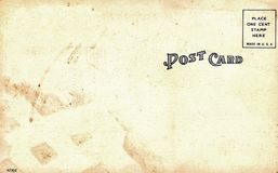 Backside of postcard Royalty Free Stock Images