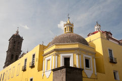 Backside of Puebla cathedral (Mexico) Royalty Free Stock Photo