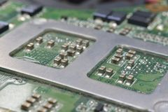 Backside socet for cpu Stock Photography
