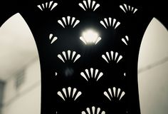 Backside of a traditional plastic chair. Isolated object royalty free stock image
