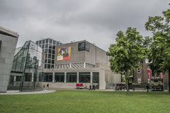 Backside Of The Van Gogh Museum At Amsterdam The Netherlands. 2018 royalty free stock photography