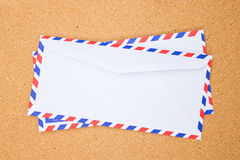 Backside of vintage envelope. Stock Photo