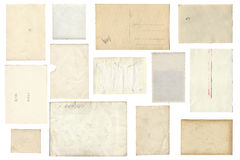 Backside from vintage Photo Paper Sheets Royalty Free Stock Images