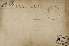 Backside of vintage postcard. Backside of postcard with dirty stain vector illustration