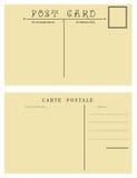 Backside of vintage postcard. For placing messages and addresses stock illustration