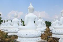 Backside of white Buddha Royalty Free Stock Photo