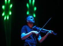 Backspace żywy przy Międzynarodową Multimedialną prezentacją - Nastrojowy festiwal Gorlice Polska zdjęcie royalty free