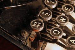 Backspace key on vintage manual typewriter. The backspace key on an old manual typewriter royalty free stock image
