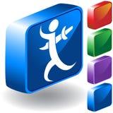 Backstab el icono 3D stock de ilustración