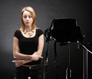 Backstage. Scene in photo studio Royalty Free Stock Images