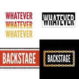 Backstage Amour slogan modern Fashion Slogan for T-shirt graphic vector Print. Set illustration design tee girl text apparel beautiful card drawing feminine vector illustration